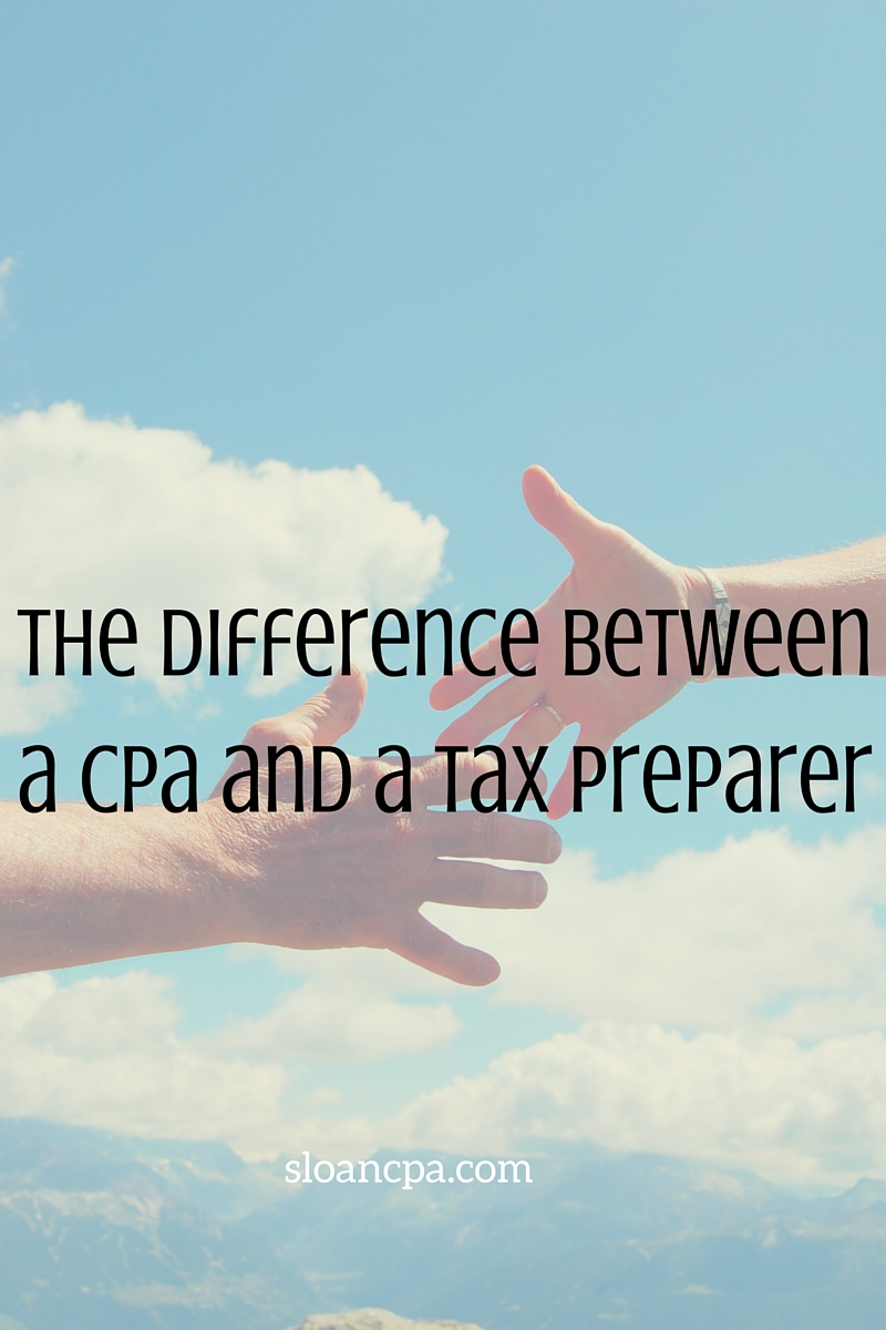 difference between a CPA and a tax preparer